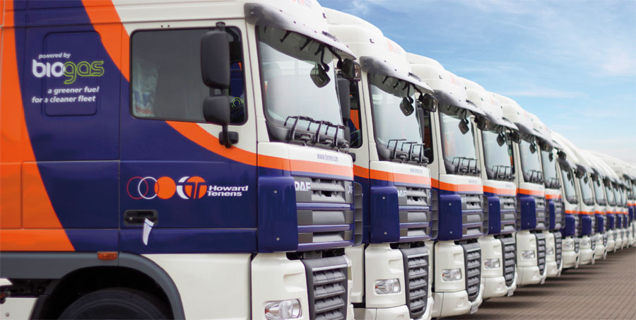 Fleet of Howard Tenens vehicles