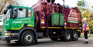 Simply Waste Solutions recycling collection vehicle
